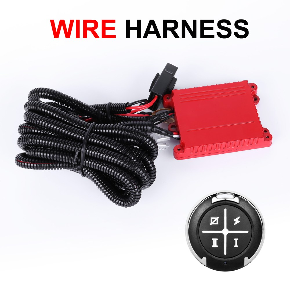 medium resolution of details about dual color led light bar wiring harness remonte control switch kit offroad 12v