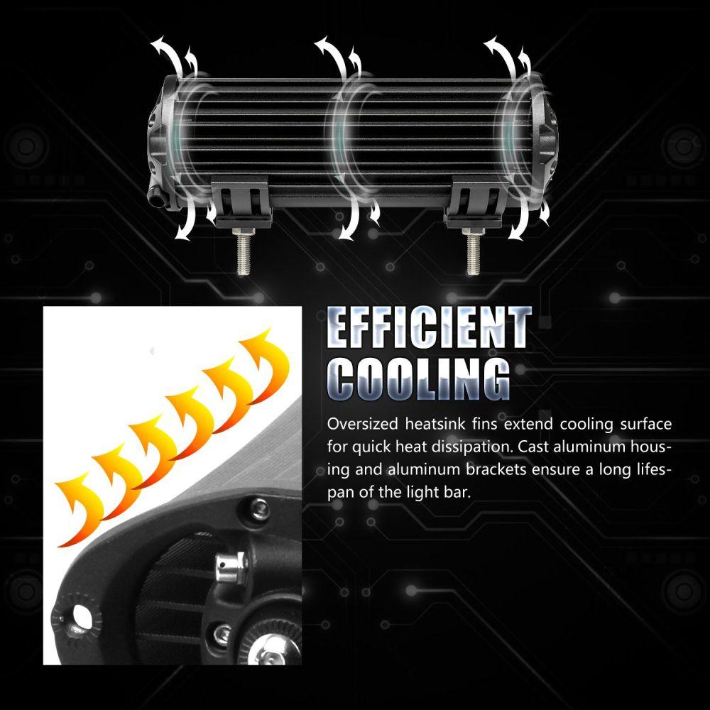 medium resolution of 216w 9inch led work light bar spot flood combo beam driving suv wiring harness