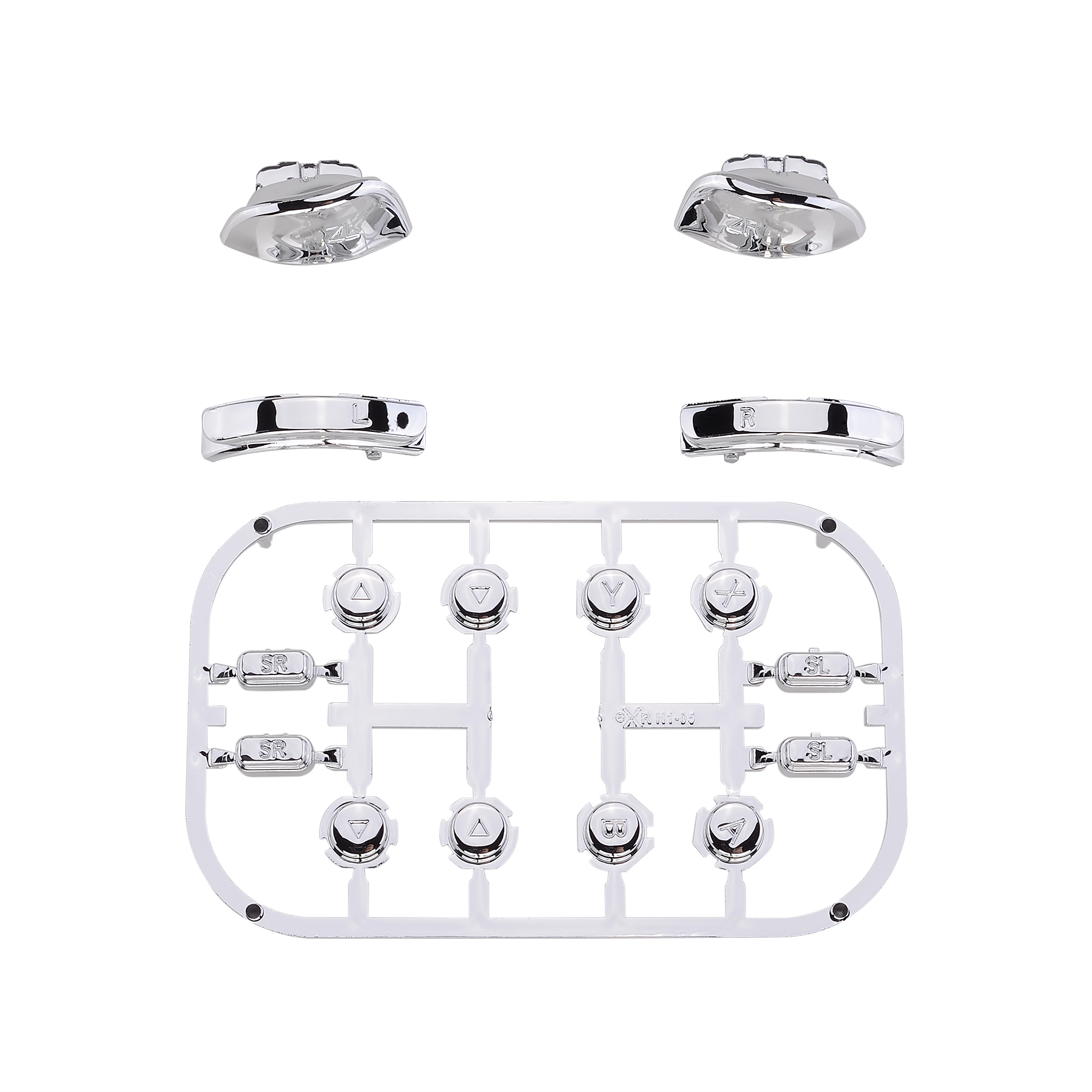 Chrome Silver Full Set Buttons W Tools Replacement For