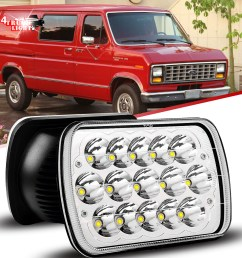 7x6 5x7 in led headlight for ford super duty truck f550 f600 f650 f700 f750 2b1 [ 1200 x 1200 Pixel ]