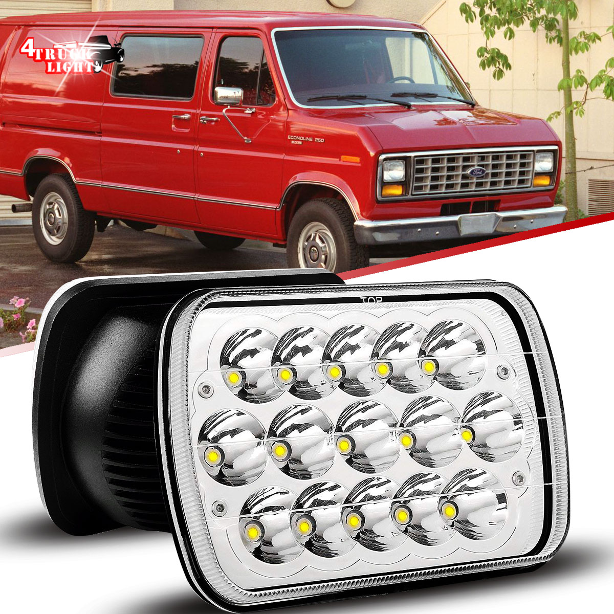 hight resolution of 7x6 5x7 in led headlight for ford super duty truck f550 f600 f650 f700 f750 2b1