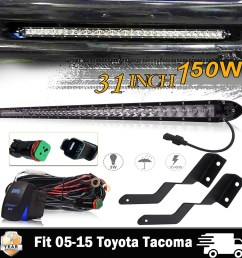 details about 30 31inch led light bar hidden bumper mount wiring kit for 05 15 toyota tacoma [ 1000 x 1000 Pixel ]