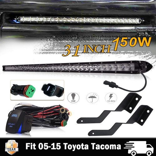 small resolution of details about 30 31inch led light bar hidden bumper mount wiring kit for 05 15 toyota tacoma