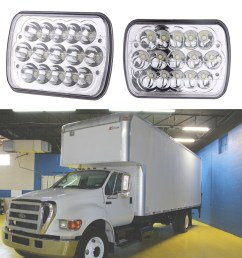 7x6 projector led headlights for ford super duty truck f550 f600 f650 f700 f750 [ 1000 x 1000 Pixel ]