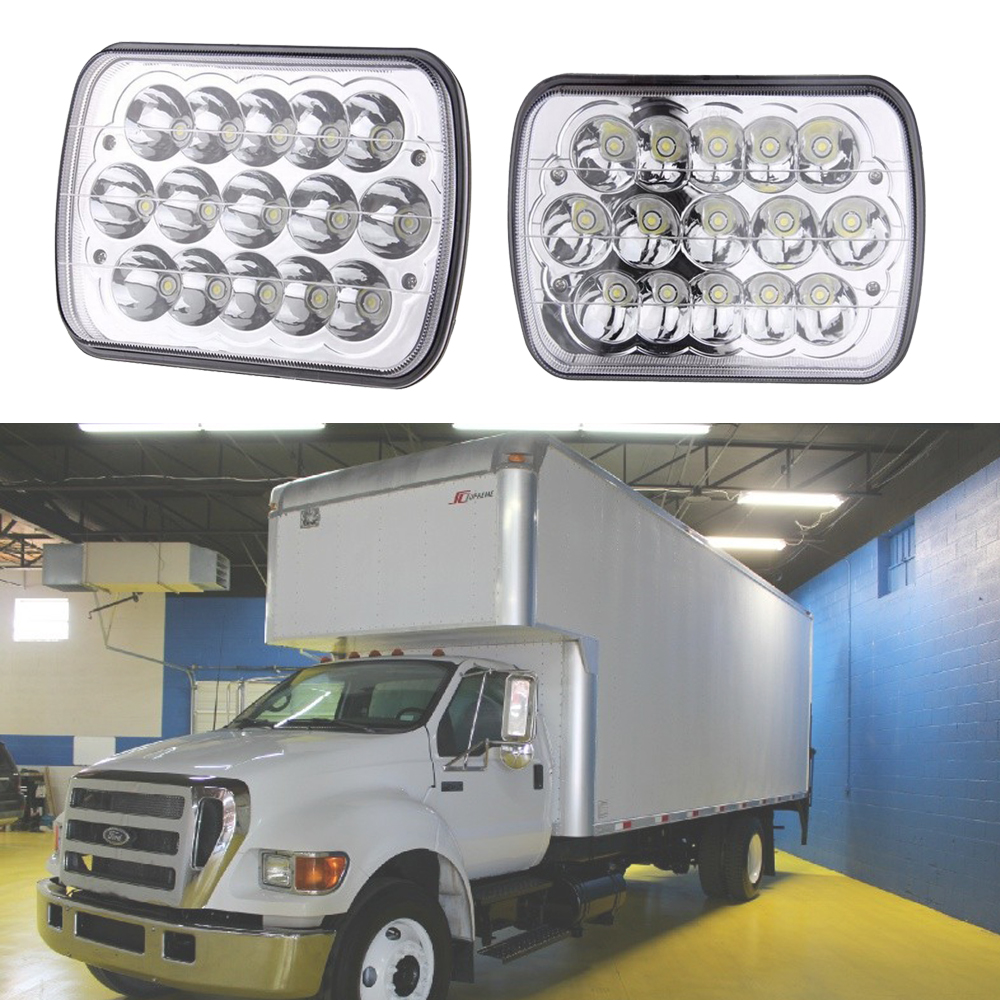 medium resolution of 7x6 projector led headlights for ford super duty truck f550 f600 f650 f700 f750