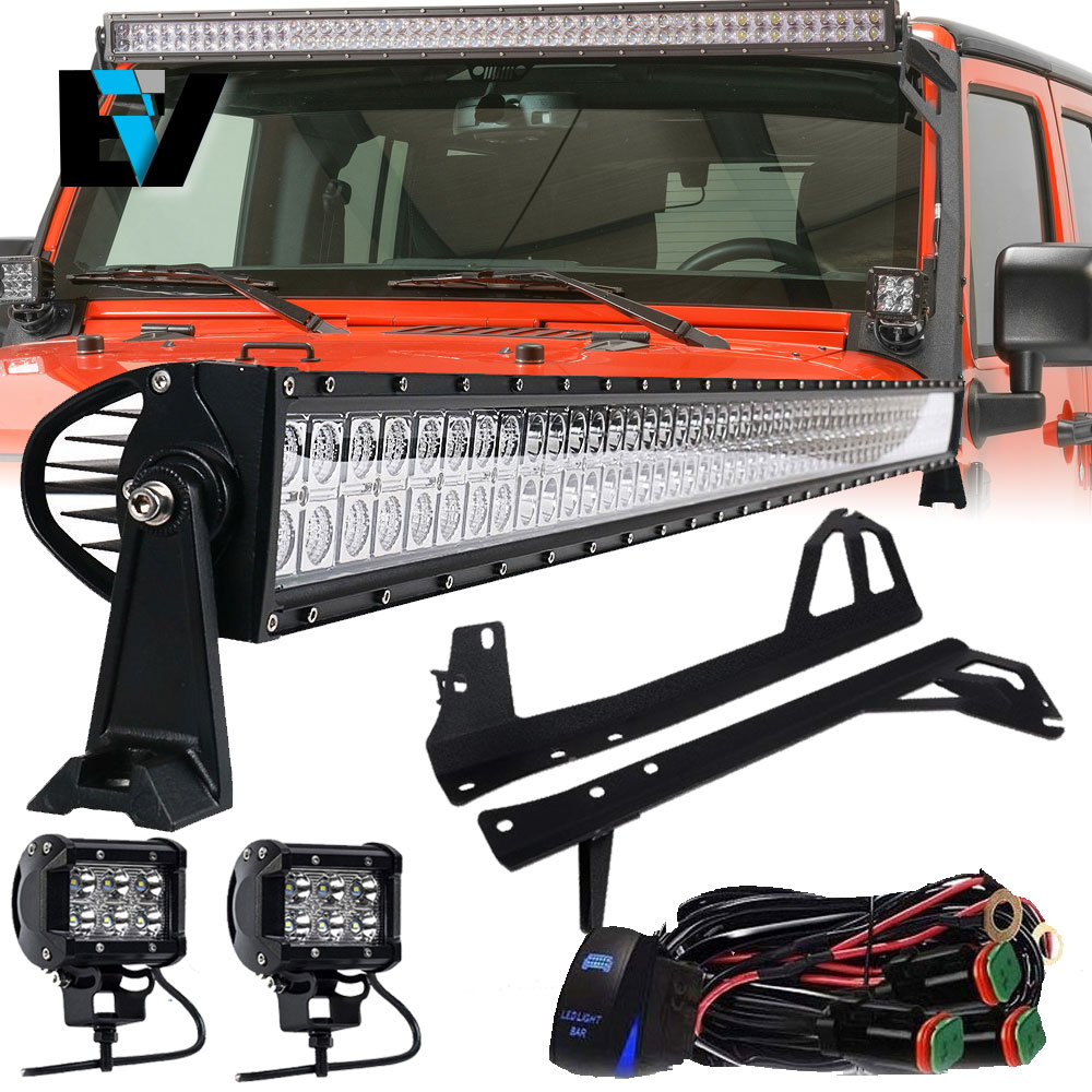 hight resolution of details about 07 18 jeep wrangler jk 50 led light bar combo mounting bracket pods wiring kit