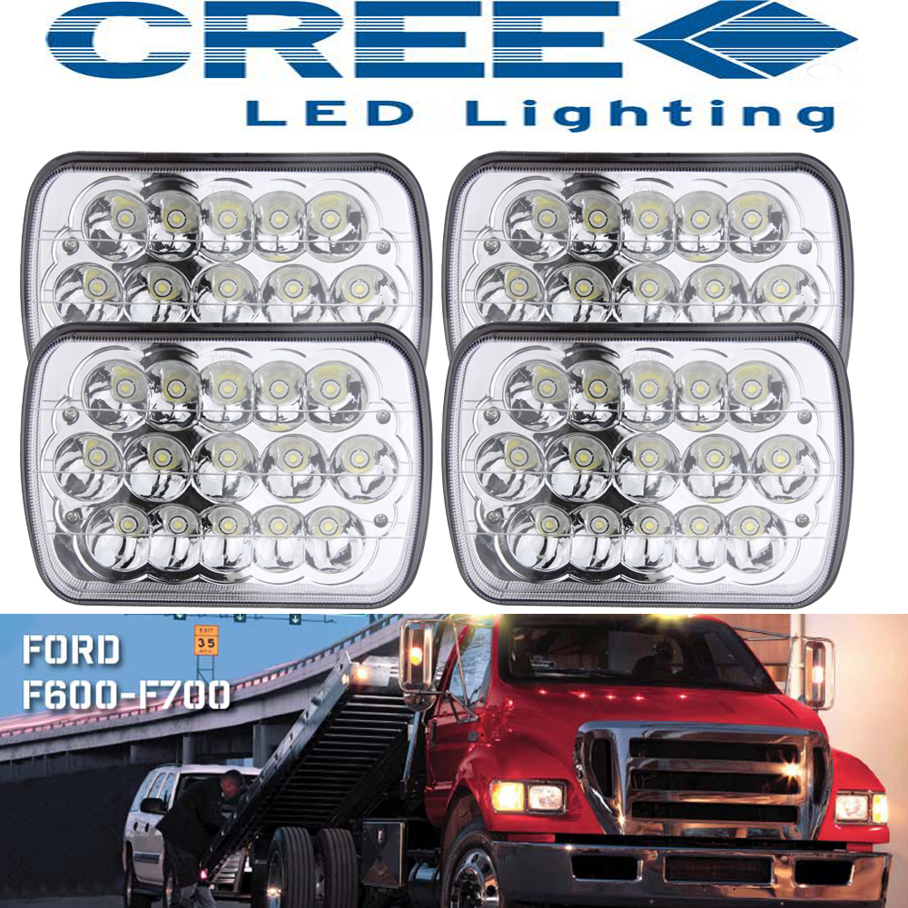 hight resolution of 4p 7x6 led headlight upgrade for ford f550 f600 f650 f700 f750 super duty truck