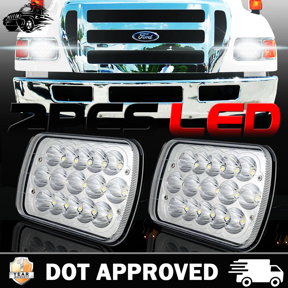 hight resolution of 7x6 led headlight projector for ford super duty truck f550 f600 f650 f700 f750