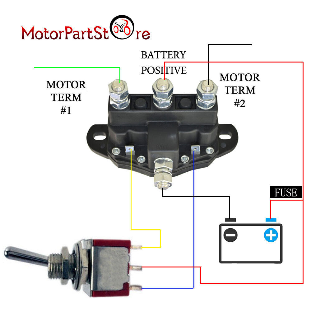 medium resolution of details about 12 volt winch motor contactor reversing solenoid contactor relay 6 terminal