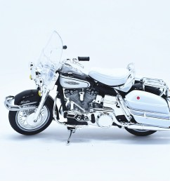 1 18 maisto harley davidson 1966 flh electra glide motorcycle model toy white [ 1024 x 838 Pixel ]