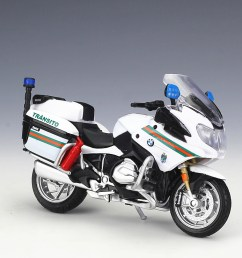 1 18 maisto bmw r1200rt usa police motorcycle bike model new in box [ 1024 x 809 Pixel ]
