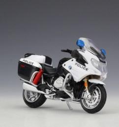 1 18 maisto bmw r1200rt usa police motorcycle bike model toy black white [ 1024 x 813 Pixel ]