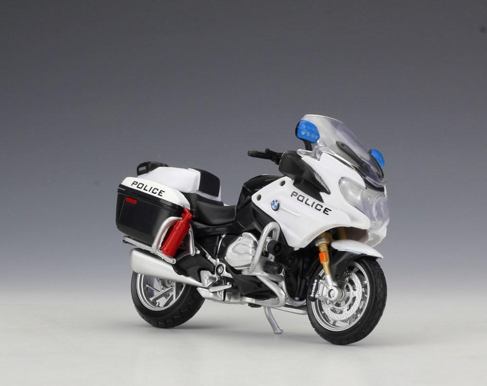 medium resolution of 1 18 maisto bmw r1200rt usa police motorcycle bike model toy black white