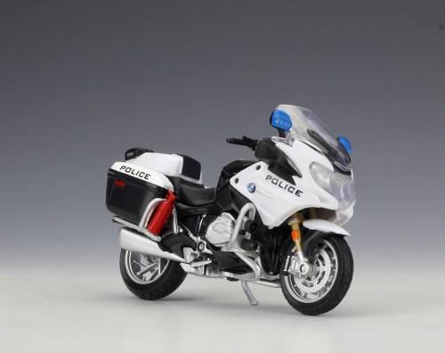 small resolution of 1 18 maisto bmw r1200rt usa police motorcycle bike model toy black white