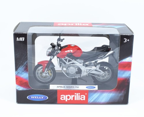 small resolution of 1 18 welly aprilia shiver 750 motorcycle bike model new in box