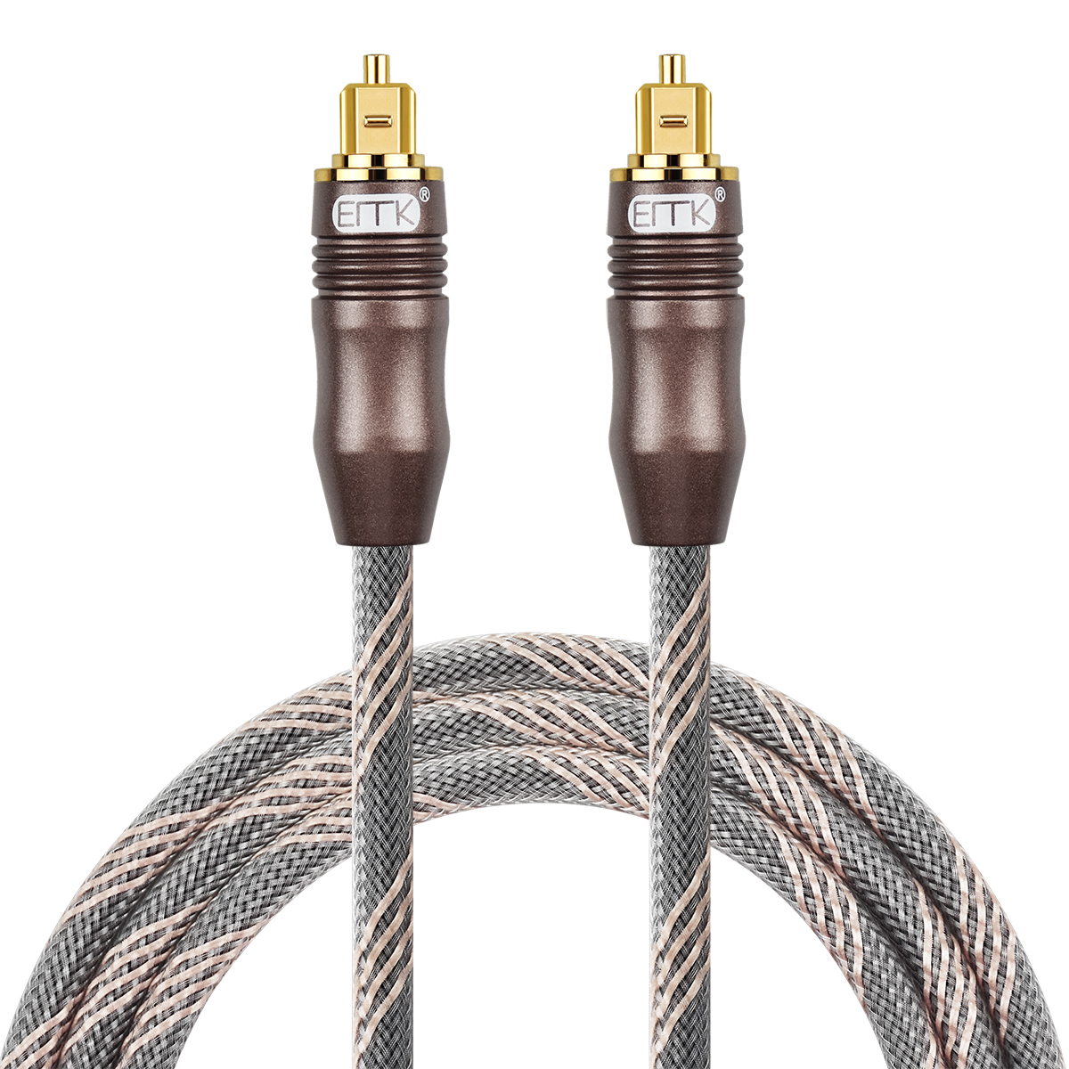 hight resolution of emk digital toslink optical audio cable fiber optic spdif cord wire sound bar home theater tv dvd ps3 4 1 5 2m