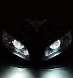 lighting indicators headlight assembly halo ring angel eye hid projector ballast honda cbr1000 04 07 [ 900 x 900 Pixel ]
