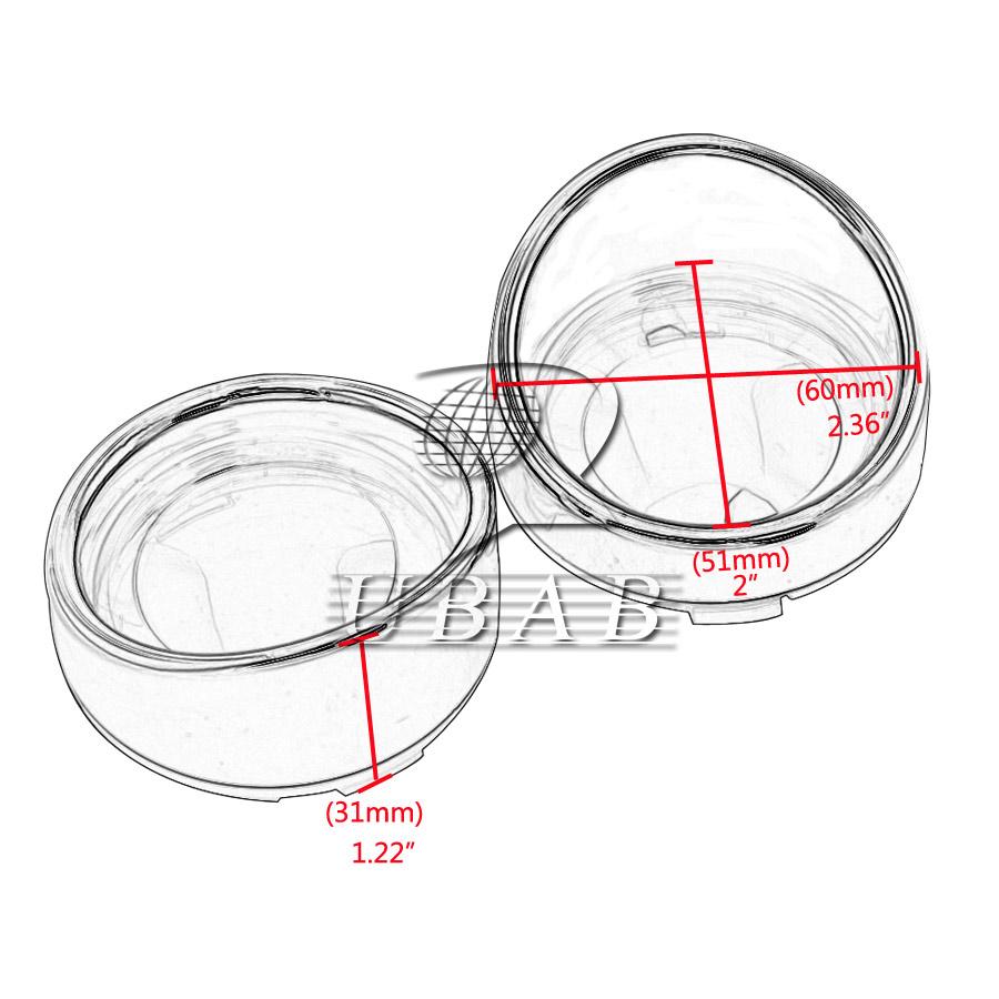 2 Smoke Turn Signal Light Lens Cover Visor Ring For Harley