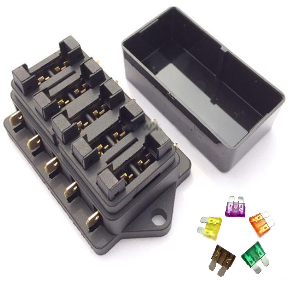 medium resolution of details about 1x 5 way fuse blade holder box block car vehicle automotive circuit 5 fuse uk
