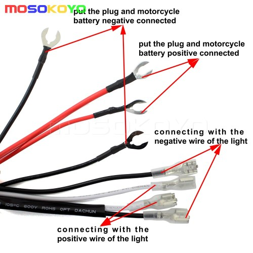small resolution of spot led auxiliary fog light guard cover wiring harness for bmw r1200 f800 gs