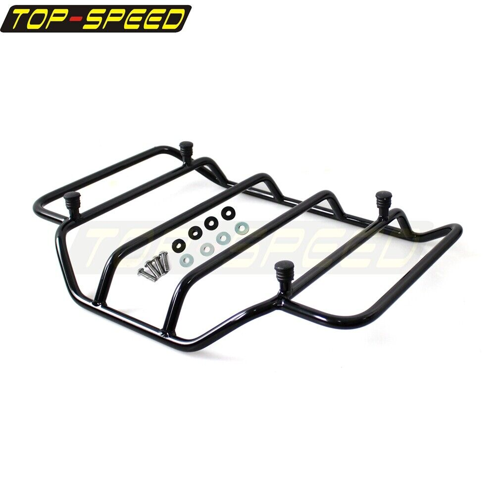 Black Tour Pak Pack Top Luggage Rack For Harley Touring