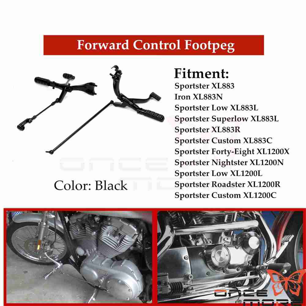 medium resolution of details about footpegs forward control kit for harley sportster 1200 nightster xl1200n 07 12