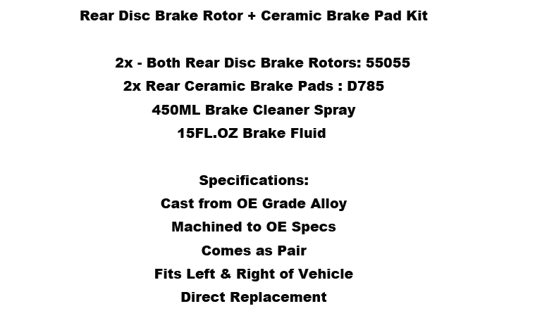 Rear Drill Slot Brake Rotors And Ceramic Pads For Chevy