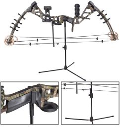 1x bow stand archery recurve traditional bow holder for hunting shooting black [ 1000 x 1000 Pixel ]