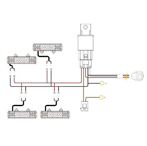 New 3M Universal 4 lead LED Light Bar Wiring Harness Kit w