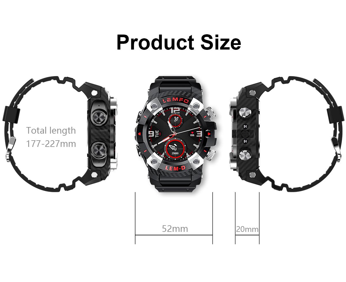 2 In 1 Bluetooth Smart Watch Handsfree Earpiece Headset