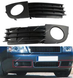 details about 2pcs front bumper lower grille fog lights trim for audi a6 c5 2002 2005 [ 1000 x 1000 Pixel ]