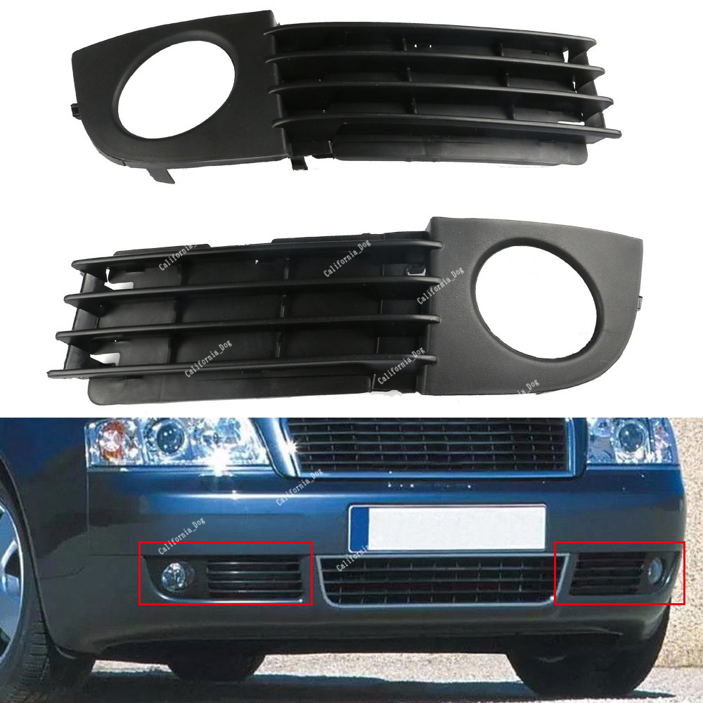 hight resolution of details about 2pcs front bumper lower grille fog lights trim for audi a6 c5 2002 2005