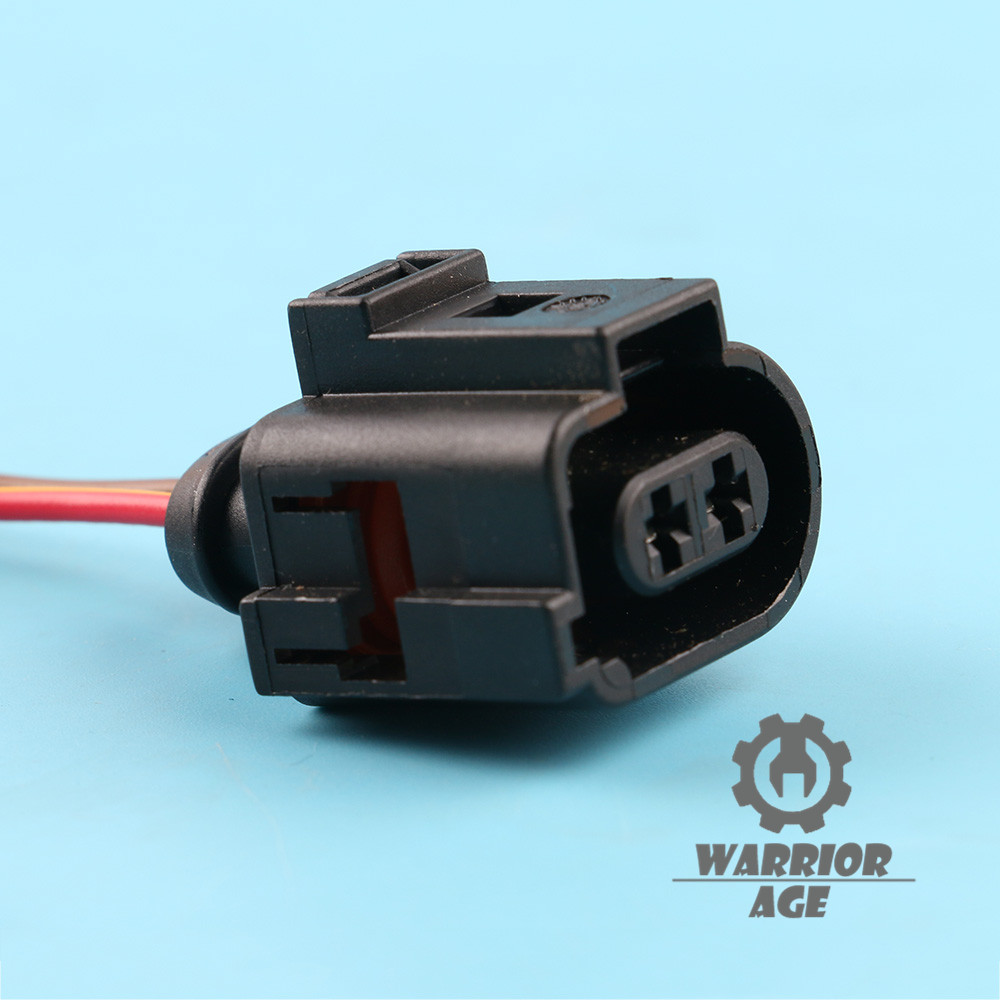 hight resolution of oem 2 pin connector plug headlight washer pump 1j0973722a for vw audi skoda seat