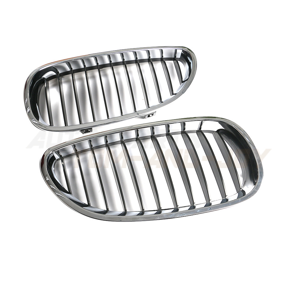 Front Hood Right & Left Kidney Grille Chrome For 2004-2009