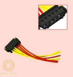 rear tail light wiring connector plug 6 pin 893971636 for audi vw skoda seat new [ 1000 x 1000 Pixel ]
