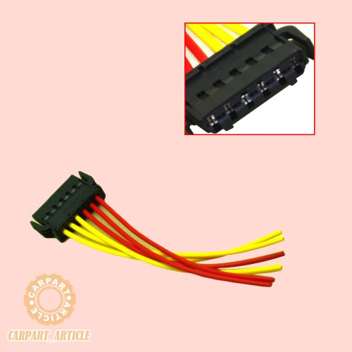 small resolution of rear tail light wiring connector plug 6 pin 893971636 for audi vw skoda seat new