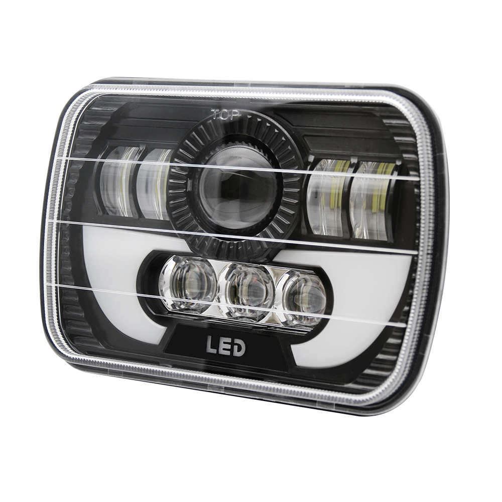 hight resolution of 2pc 7x6 sealed led headlight light for ford super duty f550 f600 f650 f700 f750