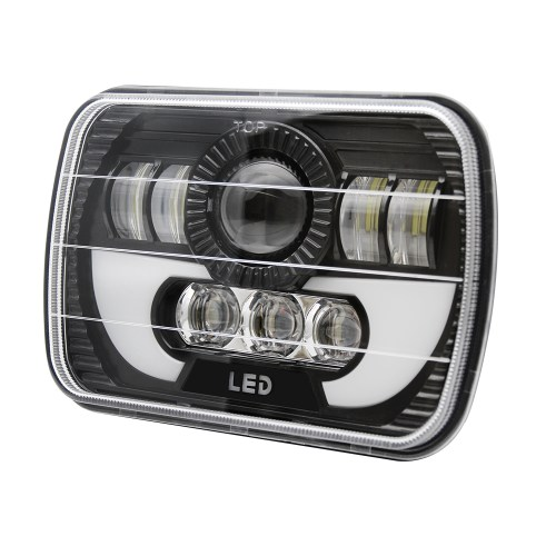 small resolution of 2pc 7x6 sealed led headlight light for ford super duty f550 f600 f650 f700 f750