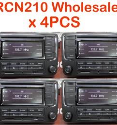 details about wholesale joblot 4pcs vw car stereo rcn210 bt cd usb aux golf tiguan passat polo [ 1000 x 832 Pixel ]