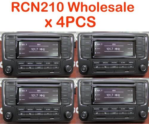 small resolution of details about wholesale joblot 4pcs vw car stereo rcn210 bt cd usb aux golf tiguan passat polo
