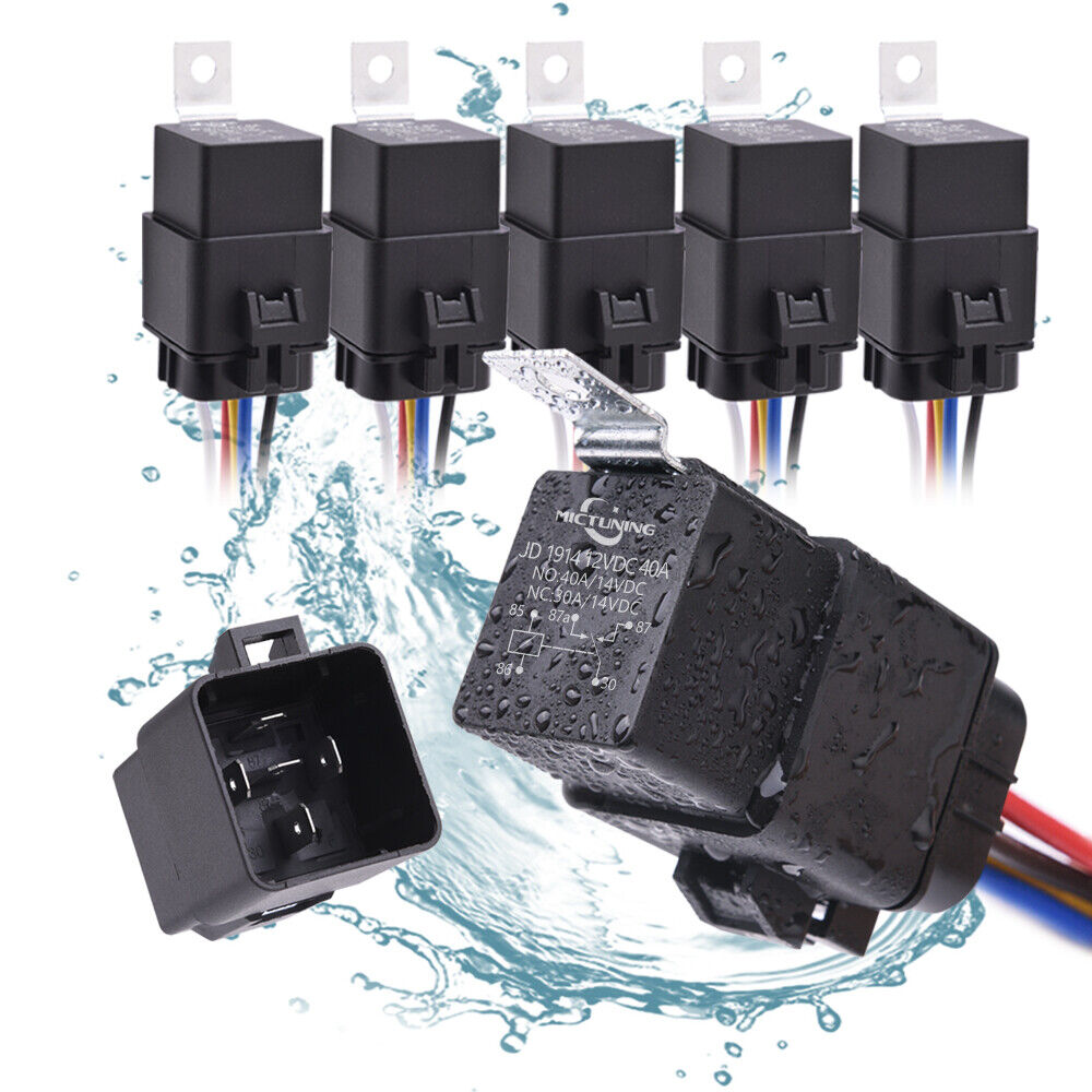 medium resolution of 5pcs waterproof universal 12v 5 pin spdt 40 30 amp relay wiring wire harness
