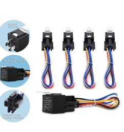 12v 30 40amp relay harness socket spdt 5pin automotive car relays kit 5 pieces [ 1000 x 1000 Pixel ]