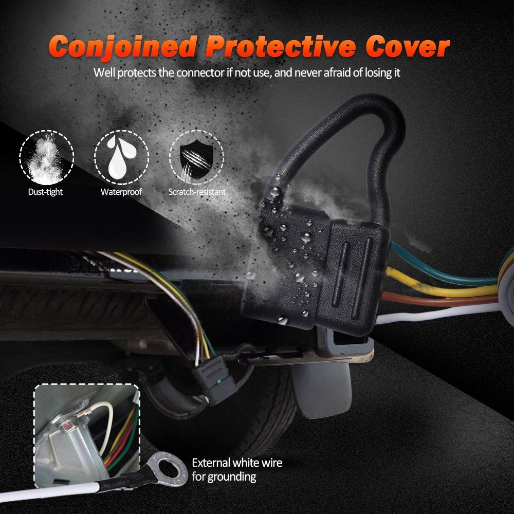 hight resolution of 7ft trailer custom wiring harness 4 pin flat connector for subaru forester