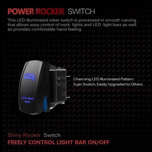 small resolution of 12ft relay harness wiring universal 5pin blue led light bar rocker narva 5 pin rocker switch wiring diagram rocker switch wiring 5 pin