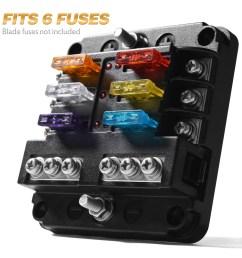 details about 6 circuit automotive atc blade fuse holder box led indicator block w negative [ 1000 x 1000 Pixel ]