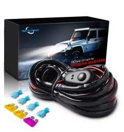 details about 12ft led light bar wiring harness kit off road 40 amp relay on off button switch [ 1000 x 1000 Pixel ]