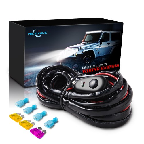 small resolution of details about 12ft led light bar wiring harness kit off road 40 amp relay on off button switch