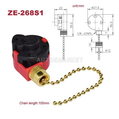 small resolution of zing ear ze 268s1 switch 4 wire 3 speed ceiling fan light brass pull chain