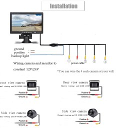 7 color tft lcd monitor image can be switched left and right up and down panoramic driving security system you can see 4 direction scenery on a  [ 1000 x 1000 Pixel ]
