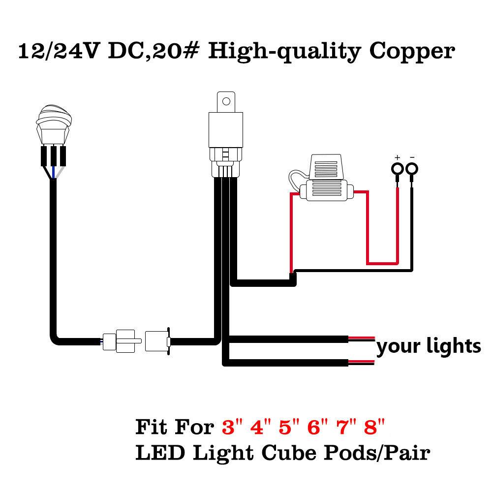 Wiring Loom Harness Kit & Wireless Remote Control Switch